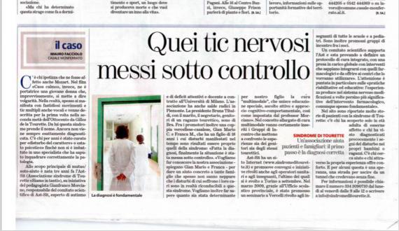"""Articolo pubblicato su """"La Stampa"""" province Vercelli-Alessandria"""